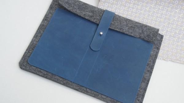 Dunkelgrau/blau - quer
