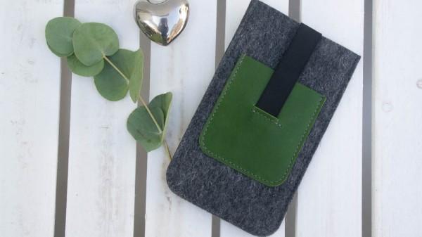 Dunkelgrau/verde - S
