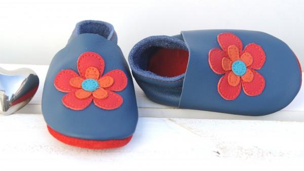 FlowerPower - jeansblau