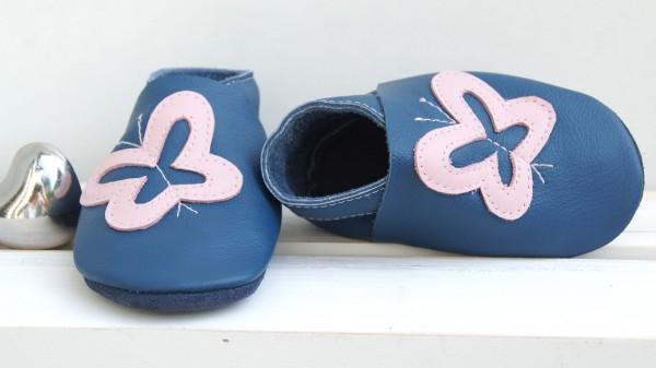 Schmetterling - jeansblau