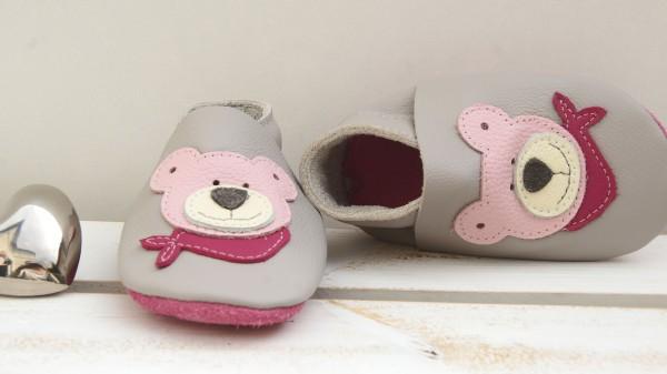 Teddy - hellgrau/rosa