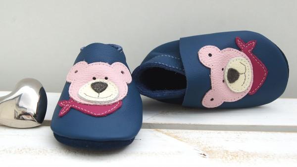 Teddy - jeansblau/rosa