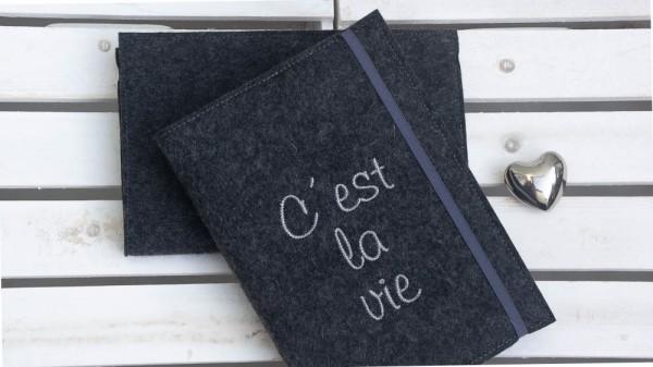 C'est la vie - dunkelgrau/hellgrau