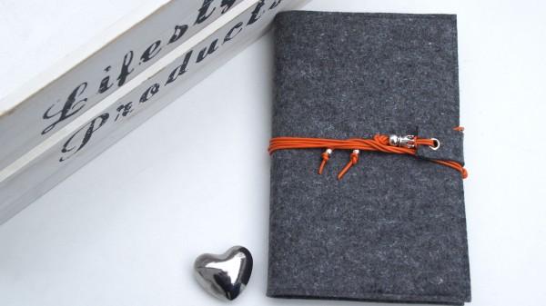 Band - dunkelgrau/orange