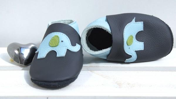 Elefant - grau/hellblau